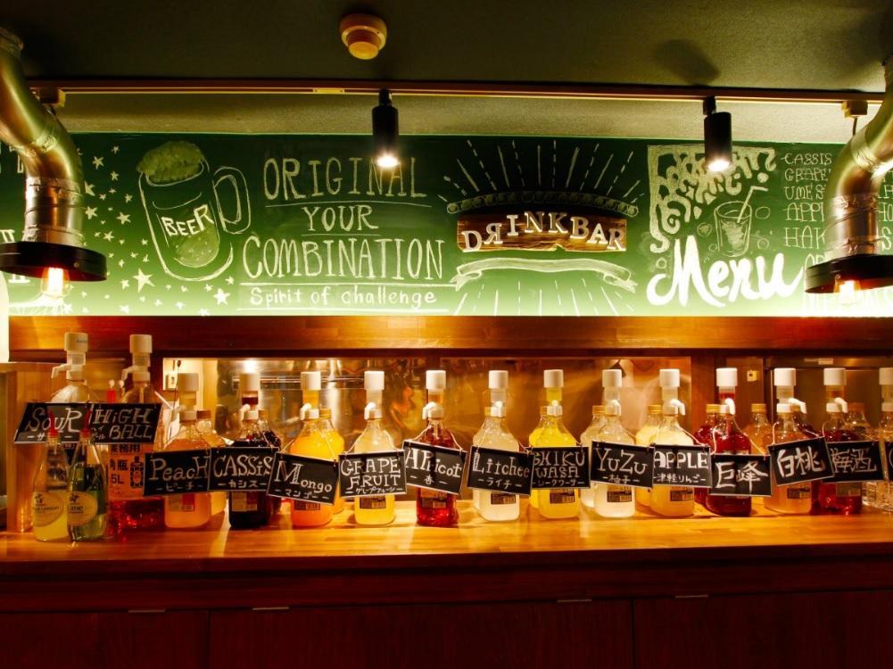 『アルコールドリンクバー』も人気の1つになっています!
