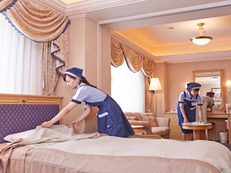 客室整備は、心地よくなるように細心の注意でを払っています。